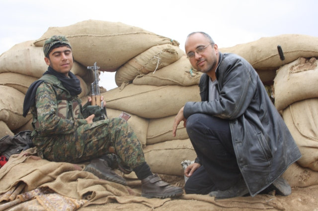 At a front line position near Jarabulus, April, 2014